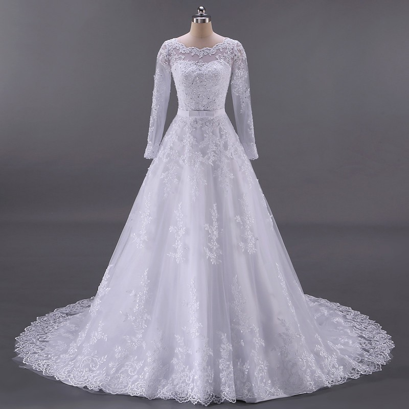 Vestido de Noiva Tope Manga Longa