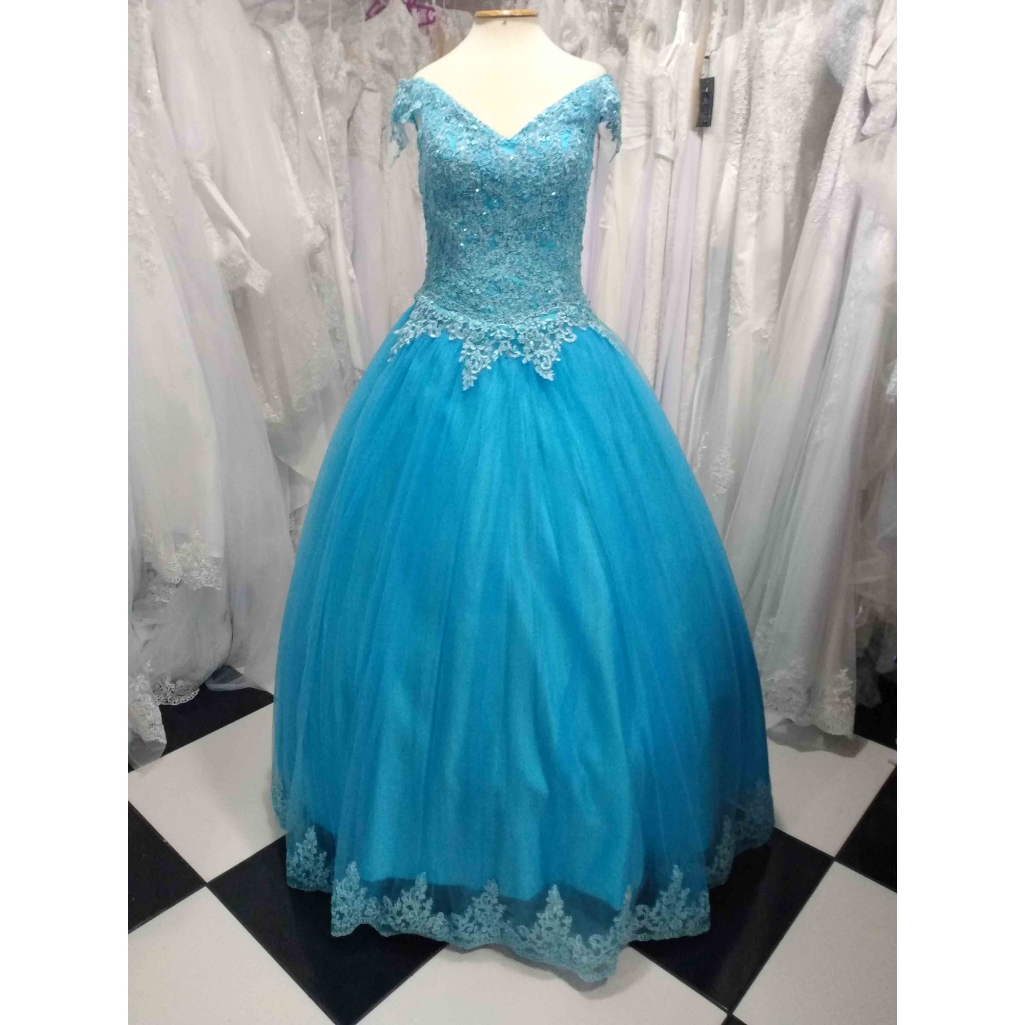 Vestido Debutante Azul
