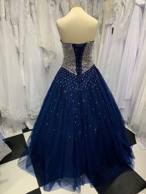Vestido Debutante Azul Brilhos