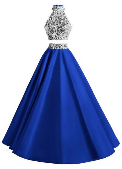 Vestido Debutante Duas Peças Azul Royal
