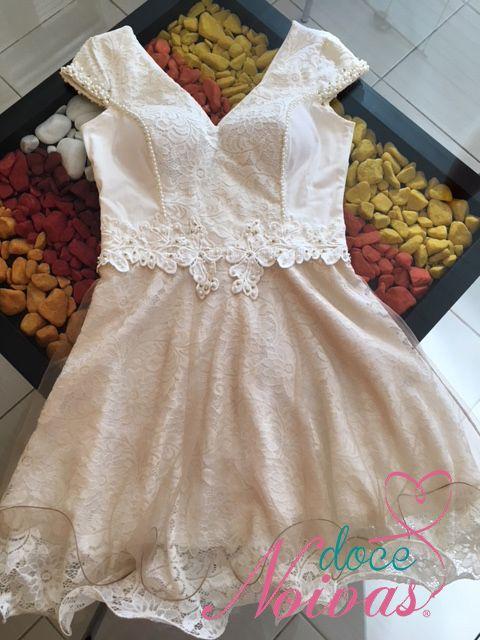 Vestido Festa Civil Guipir