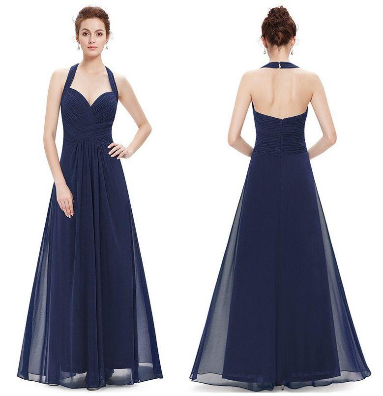 Vestido Frente Única Azul