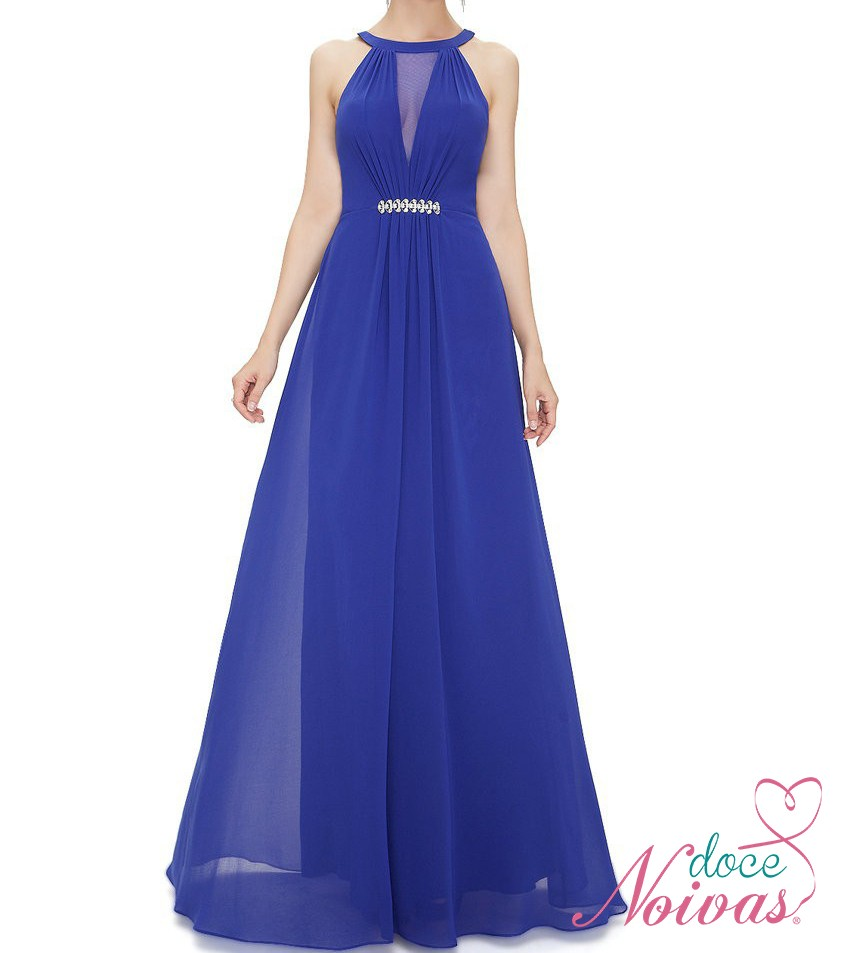 Hermosa Vestidos De Dama Azul De Cobalto Colección de Imágenes ...