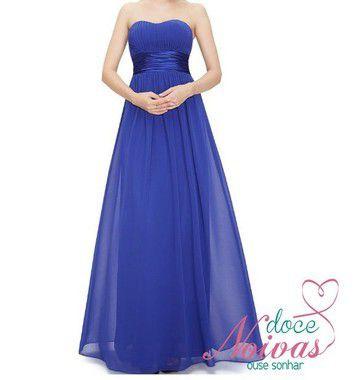 Vestido Longo Azul Royal