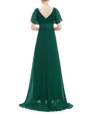 Vestido Longo Manguinha Verde