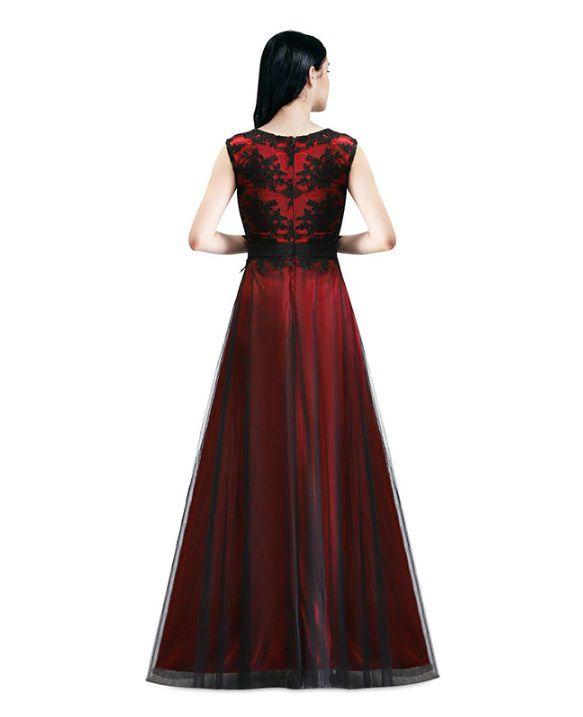 Vestido Longo Preto Marsala