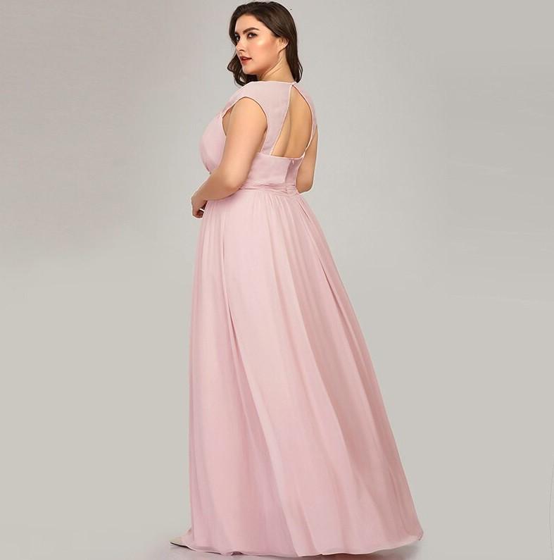 Vestido Longo Rosa Bebê