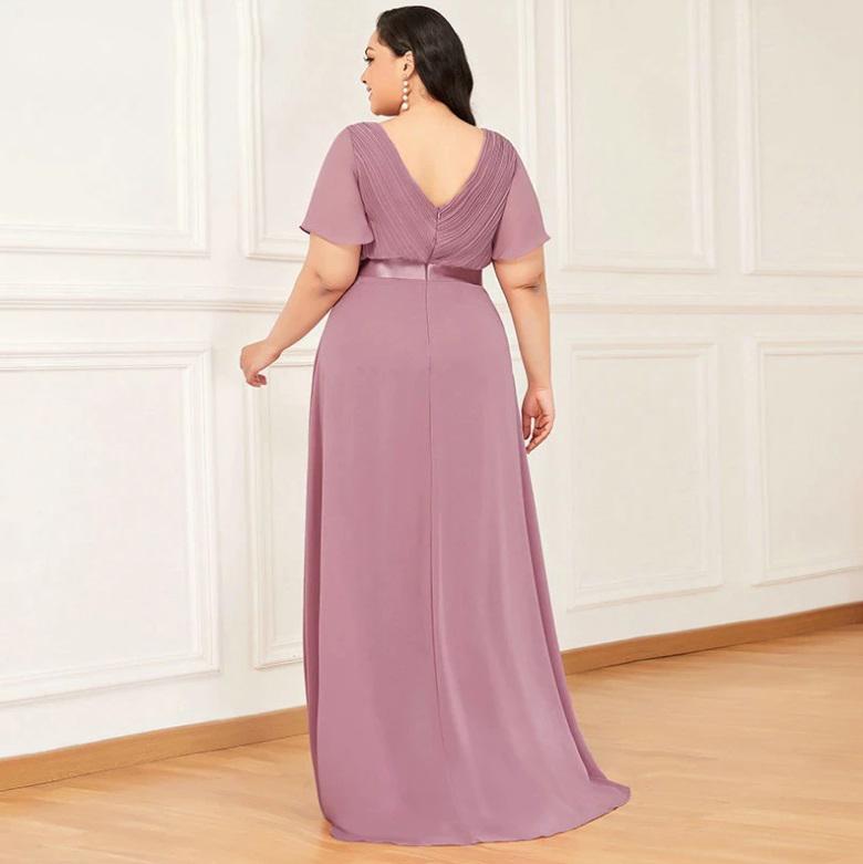 Vestido Longo Rosa Velho Plus Size