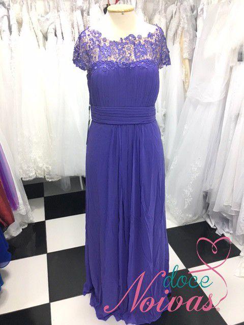 Vestido Longo Lilás e Violeta