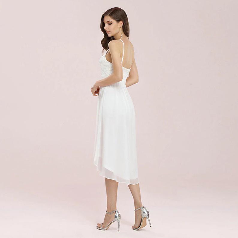 Vestido de Noiva Mullet Civil Off White
