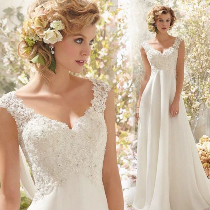 Vestido Noiva Alça Leve