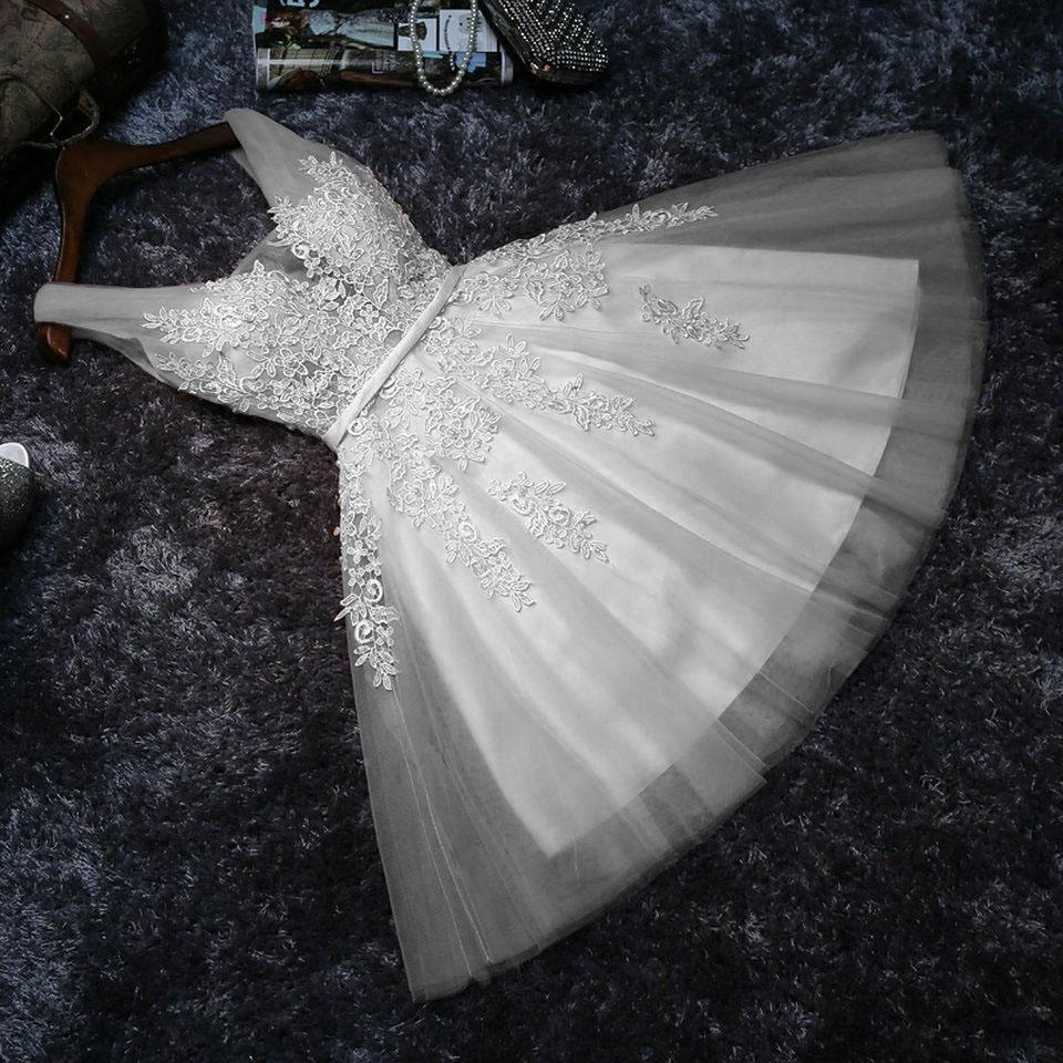 Vestido Noiva Curto Transparência