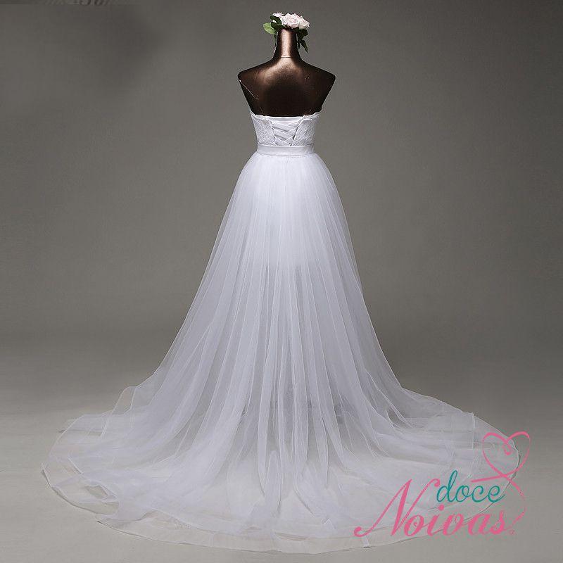 Vestido Noiva Dois Em Um 2x1