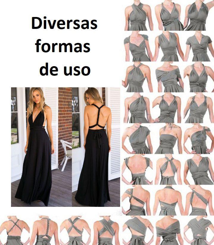 Vestido Preto Versátil Diversas Formas de Uso