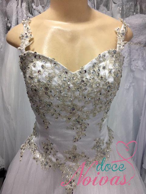 Vestido Princesa Alça e Brilho