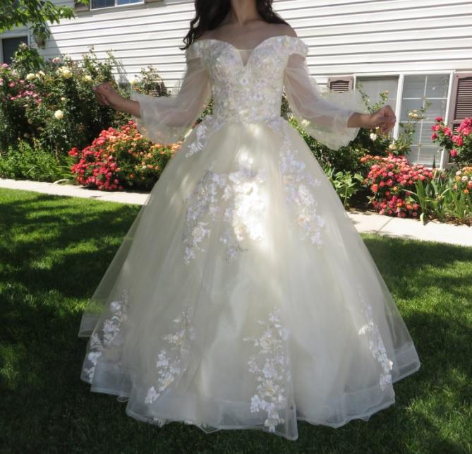 Vestido Princesa Manga Bufante