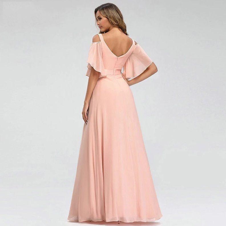 Vestido Rose Ombro a Mostra