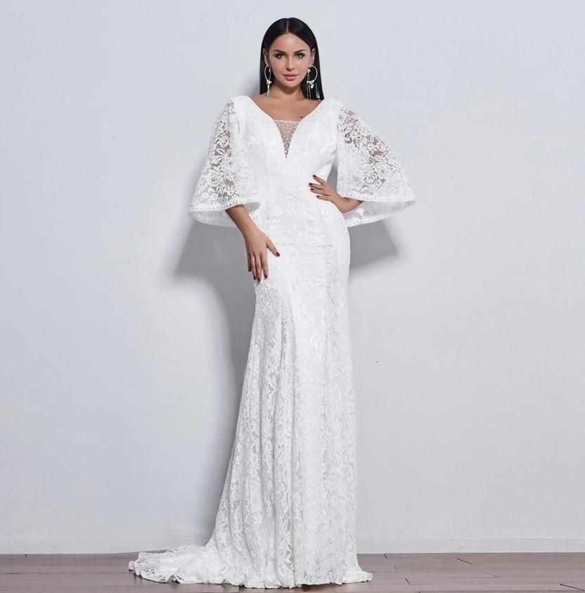 Vestido Sereia Rendado Roberta