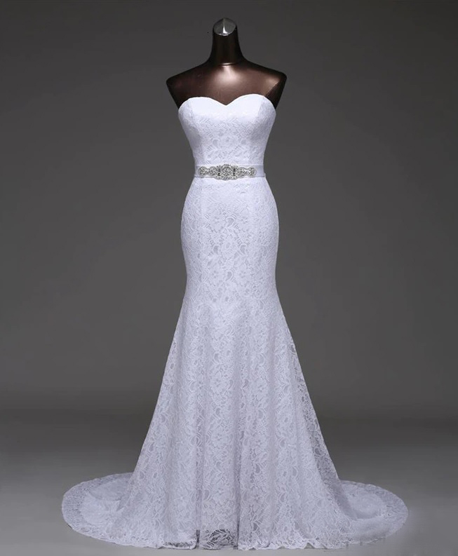 Vestido de Noiva Tomara que Caia Rendado