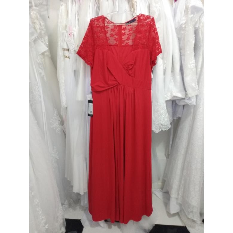 Vestido Vermelho Costas Rendada