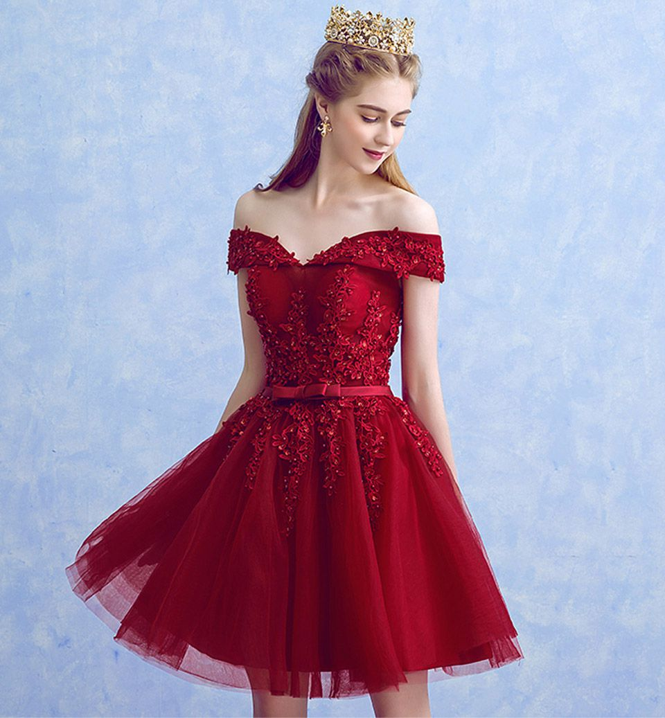 Vestido Vermelho Marsala Alças Ombro