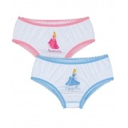 Calcinha Infantil Kit 2 Princesa Lupo