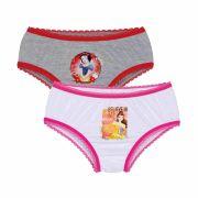 Calcinha Infantil Kit 2 Princesas Lupo