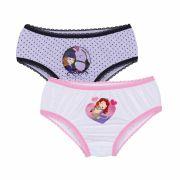 Calcinha Infantil Kit 2 Sofia Lupo