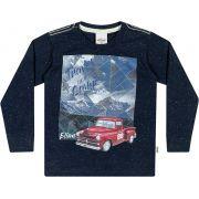 Camiseta Infantil Masculina Inverno Marinho Travel Elian