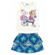 Conjunto Feminino Infantil Azul Walk Elian