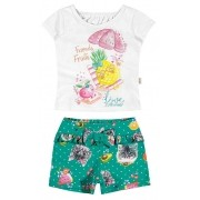 Conjunto Feminino Infantil Branco Friends Fruits Elian