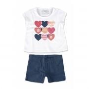 Conjunto Feminino Infantil Branco Love Malwee