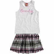 Conjunto Infantil Feminino Mescla OffWhite Beauty Kyly cbce9970438