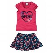 Conjunto Feminino Infantil Rosa Love Malwee