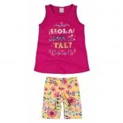 Conjunto Feminino Infantil Rosa Hola Que Tal? Malwee