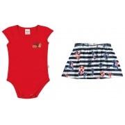 Conjunto Infantil Feminino Vermelho Navy Elian