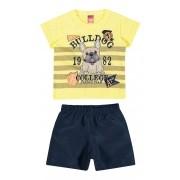 Conjunto Masculino Infantil Amarelo Bulldog Elian