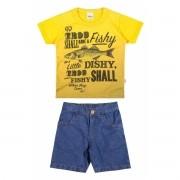 Conjunto Masculino Infantil Amarelo Fishy Elian