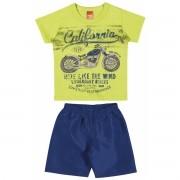 Conjunto Masculino Infantil Amarelo-Limão California Elian