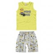Conjunto Masculino Infantil Amarelo-Limão Minions Malwee