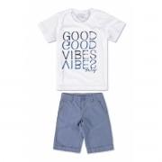 Conjunto Masculino Infantil Azul Good Vibes Malwee