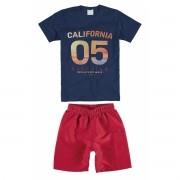 Conjunto Masculino Infantil Azul Marinho California Malwee