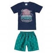 Conjunto Masculino Infantil Azul Marinho Californian Kombi Malwee