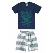 Conjunto Masculino Infantil Azul Marinho Eagles Carinhoso