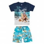 Conjunto Masculino Infantil Azul Marinho Patrulha Canina Malwee