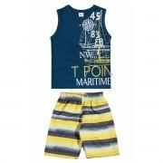 Conjunto Masculino Infantil Azul Marinho Point Elian