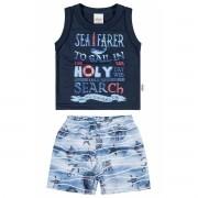 Conjunto Masculino Infantil Azul Marinho Sea Farer Elian