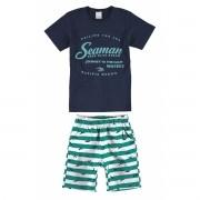 Conjunto Masculino Infantil Azul Marinho Seaman Malwee