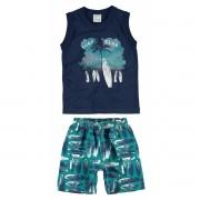 Conjunto Masculino Infantil Azul Marinho Surf Club Malwee