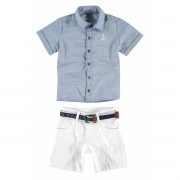 Conjunto Masculino Infantil Azul Navy Carinhoso
